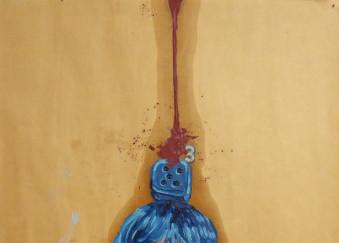 Olio su carta da imballaggio - 50 x 74,5 cm - 2012