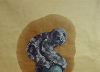Olio su carta da imballaggio - 49 x 74,5 cm - 2012