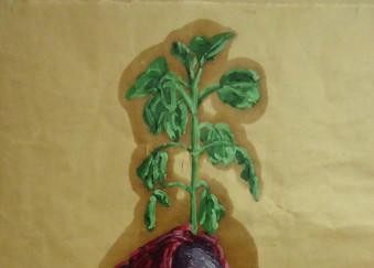 Olio su carta da imballaggio - 51 x 74,5 cm - 2012