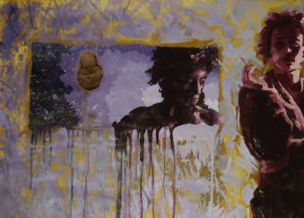 Olio su carta da imballaggio - 70 x 100 cm - 2011