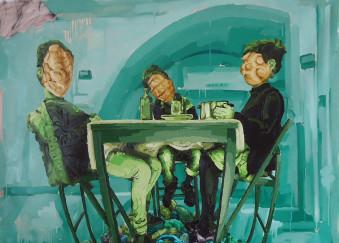 Olio su tela - 145 x 145 cm - 2012